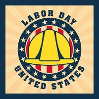 Labor Day Background with Yellow Hard Hat