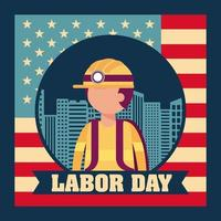 Labor Day Background with Fireman