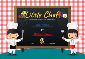 Red Checker Pattern and Chalkboard Little Chef Diploma