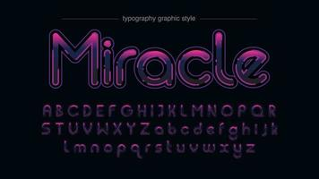 Vibrant Purple Ink Typography vector