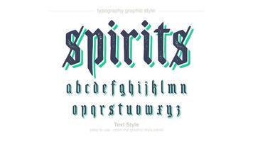 Green Navy Script Typography vector