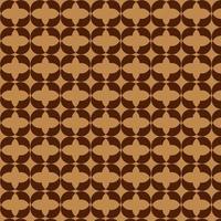 Brown Retro Diamond Seamless Pattern vector