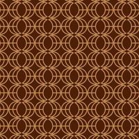 modèle de motif rétro se chevauchant brun