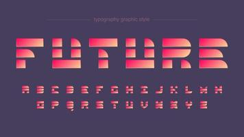 Futuristic Shapes Vibrant Neon Typography vector
