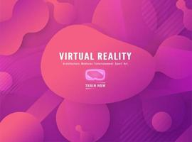 Virtual Reality Fluid Pink Shapes Background