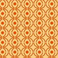 Orange and Tan Yellow Retro Geometric Seamless Pattern  vector