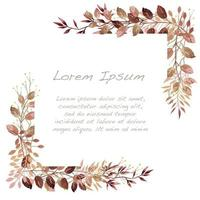 Brown and Red Watercolor Autumn Botanical Frame