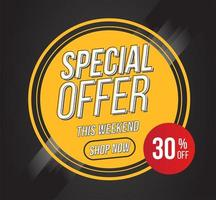 Circular Special Offer Banner