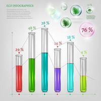 eco infografía con tubos