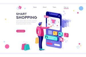 página de destino de compras inteligente