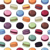 Colorful Macaroon Seamless Pattern