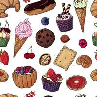 Multicolored Bakery Products Seamless Pattern