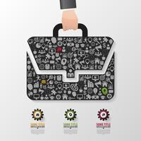 Business Infographic Elements in Briefcase