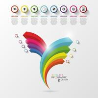 Dynamic Rainbow Infographic Chart with Icons