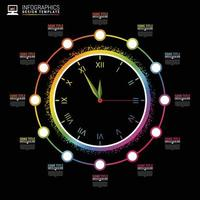 Infographic Chart in Clock Design