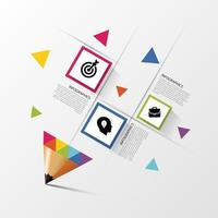 Geometric Shape and Pencil Tip Infographic