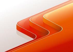 Reflective Curved Orange Steps vector