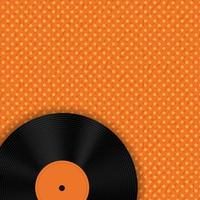 Music Record on Orange Background with Dots vector