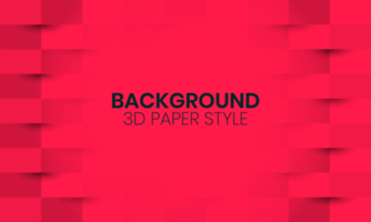 Red Background with Paper Cut Style