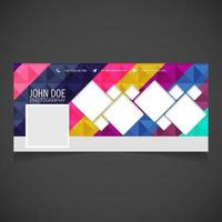 banner de página de fotografía geométrica colorida vector