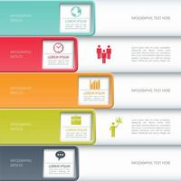 Business Infographic with Square Cutouts