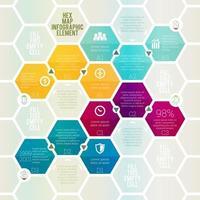 Hexagon Map Infographic