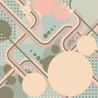 diseño retro geométrico en colores pastel