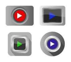 conjunto de botones de reproducción vector