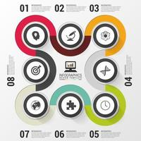 Modern Colorful Infographic with Info Circles