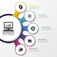 Infografik mit verbundenen Kreisen