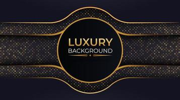 Luxury Background with Circle Frame and Gold Dots