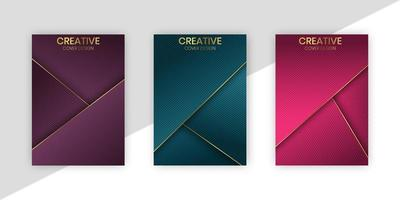 Luxury Geometric Covers With Golden Lines