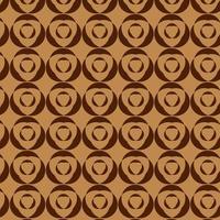 patrón de formas geométricas anidadas redondas marrones