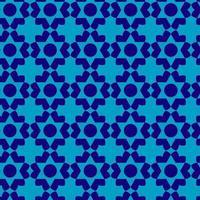 patrón de estrella geométrica azul claro y oscuro