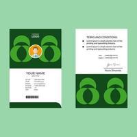 modelo de cartão de identificação verde geométrico verde