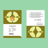 tarjeta de identificación de forma abstracta verde lima