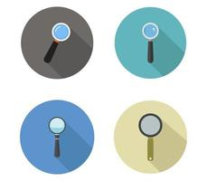 Set Of Magnifying Glass Icons vector