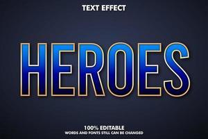 Super hero text effect