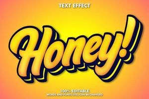 Editable honey sticker vector