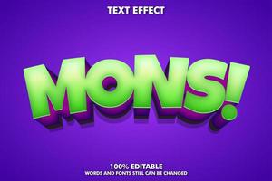 Game style text effect