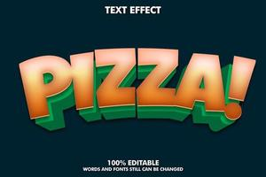 Pizza text style