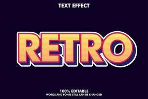 Bold retro text style