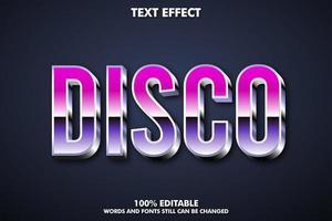 efecto de texto disco vector