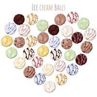 palline di gelato
