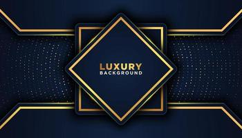 Geometric 3D Dark Luxury Background with Gold Accents