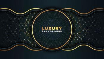 Black Luxury Background with Gold