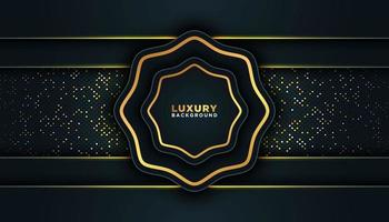 Black Luxury Frame with Gold Trim  vector