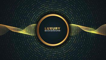 Dark Luxury Background with Radial Gold Dots