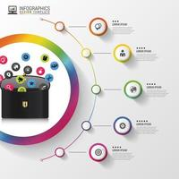 Briefcase Colorful Infographic Design
