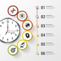 reloj diseño moderno negocio infografía